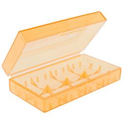 CR123A battery box semi transparent 18650 17670 16340 orange (translucent)